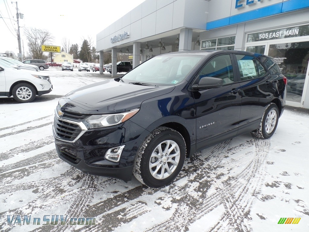 2020 Equinox LS AWD - Midnight Blue Metallic / Ash Gray photo #1