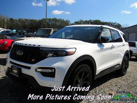 Star White Metallic Tri-Coat 2020 Ford Explorer ST 4WD