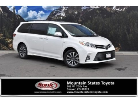 Blizzard White Pearl 2020 Toyota Sienna Limited AWD
