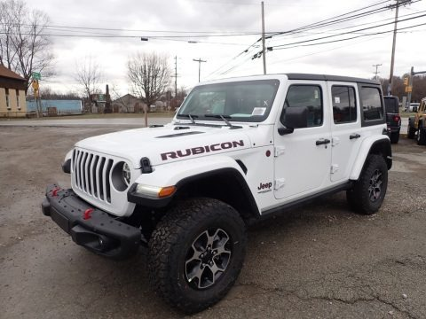 Bright White 2020 Jeep Wrangler Unlimited Rubicon 4x4