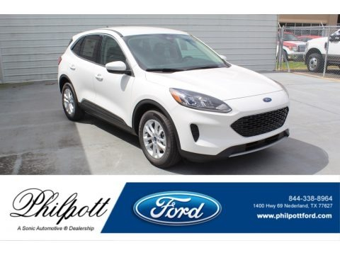 Star White Metallic Tri-Coat 2020 Ford Escape SE