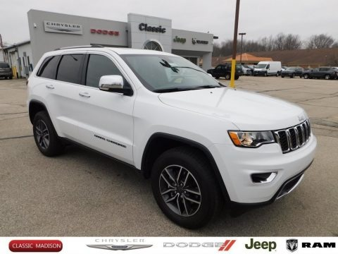 Bright White 2020 Jeep Grand Cherokee Limited 4x4