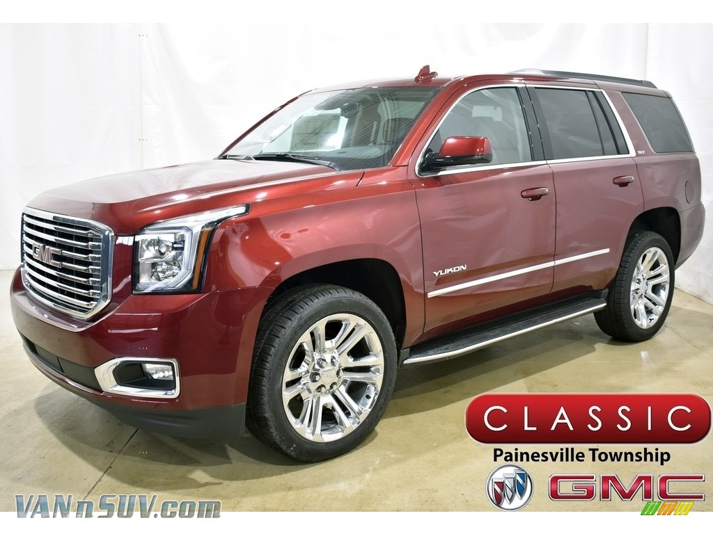 2020 Yukon SLT 4WD - Crimson Red Tintcoat / Cocoa/Dune photo #1
