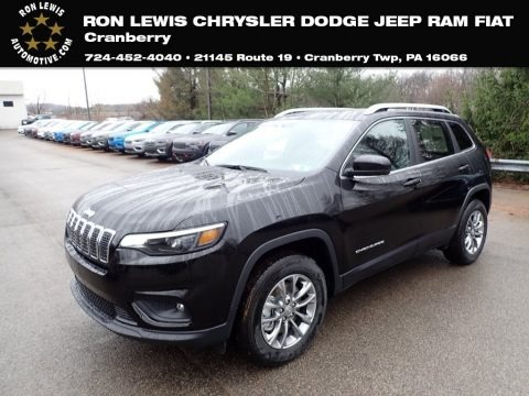 Diamond Black Crystal Pearl 2020 Jeep Cherokee Latitude Plus 4x4