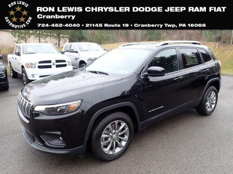 Diamond Black Crystal Pearl 2020 Jeep Cherokee Latitude Plus