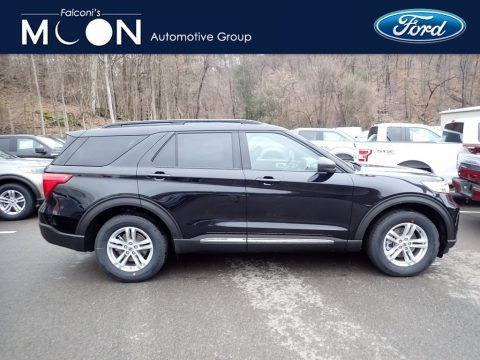 Agate Black Metallic 2020 Ford Explorer XLT