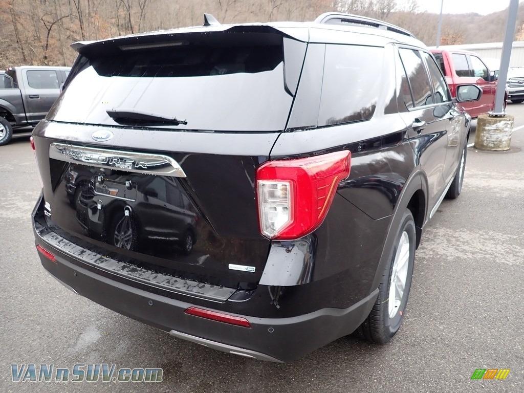 2020 Explorer XLT 4WD - Agate Black Metallic / Ebony photo #2