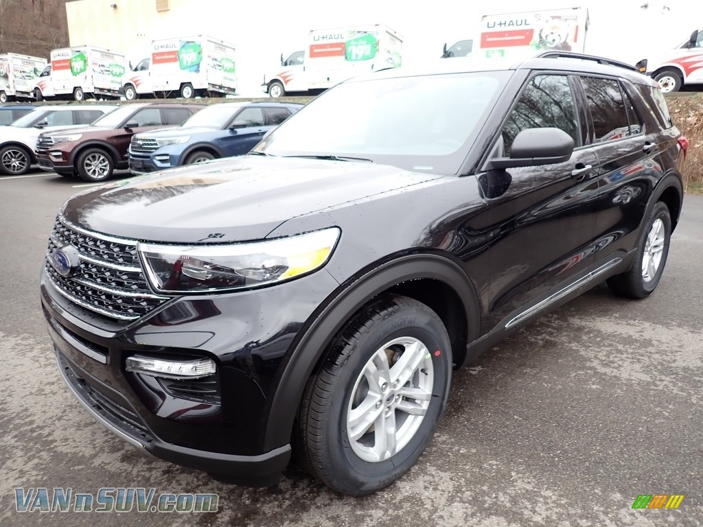 2020 Explorer XLT 4WD - Agate Black Metallic / Ebony photo #5