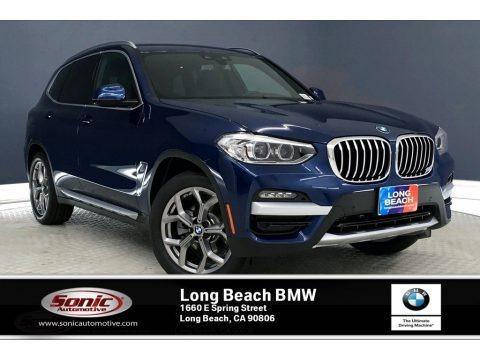 Phytonic Blue Metallic 2020 BMW X3 sDrive30i