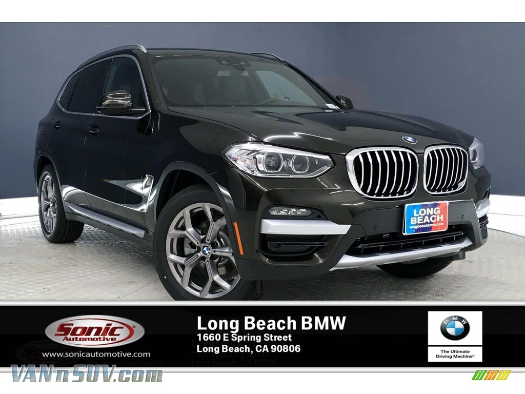 2020 X3 xDrive30i - Dark Olive Metallic / Black photo #1