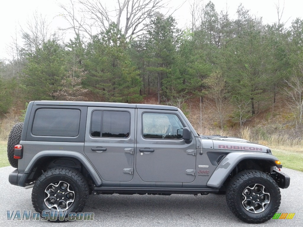 2020 Wrangler Unlimited Rubicon 4x4 - Sting-Gray / Black photo #5