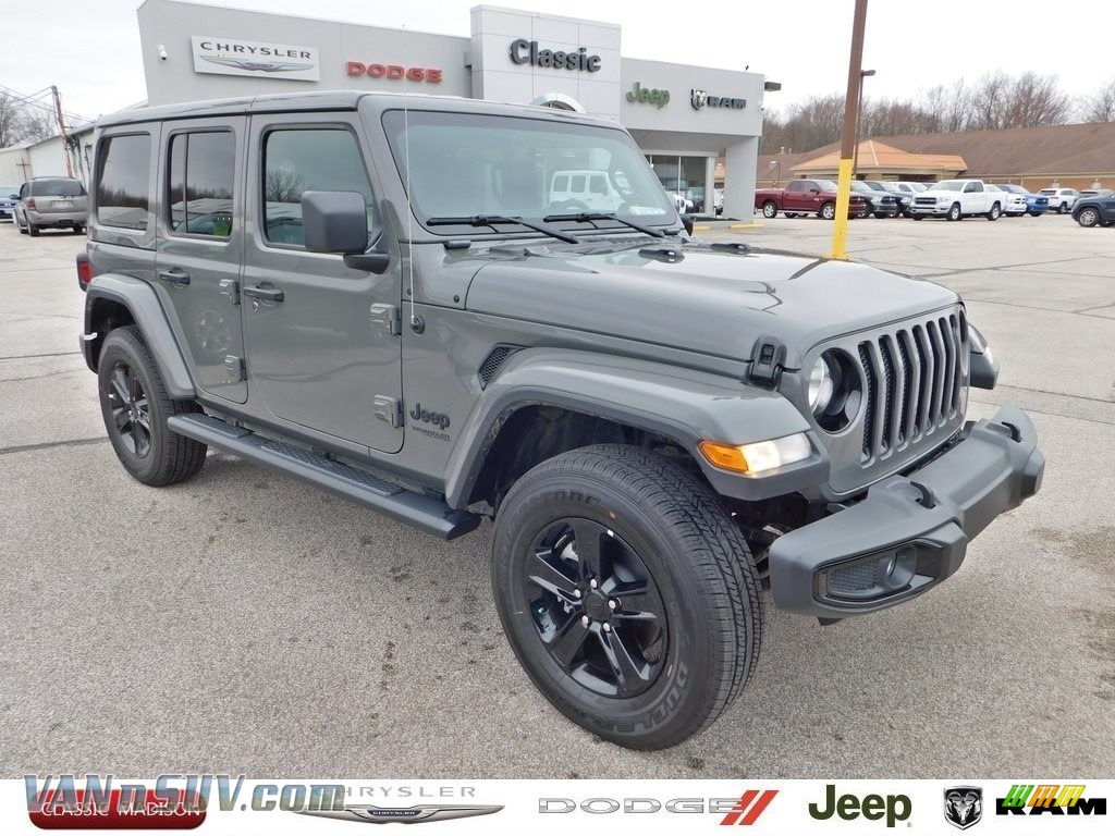 2020 Wrangler Unlimited Sahara 4x4 - Sting-Gray / Black photo #1