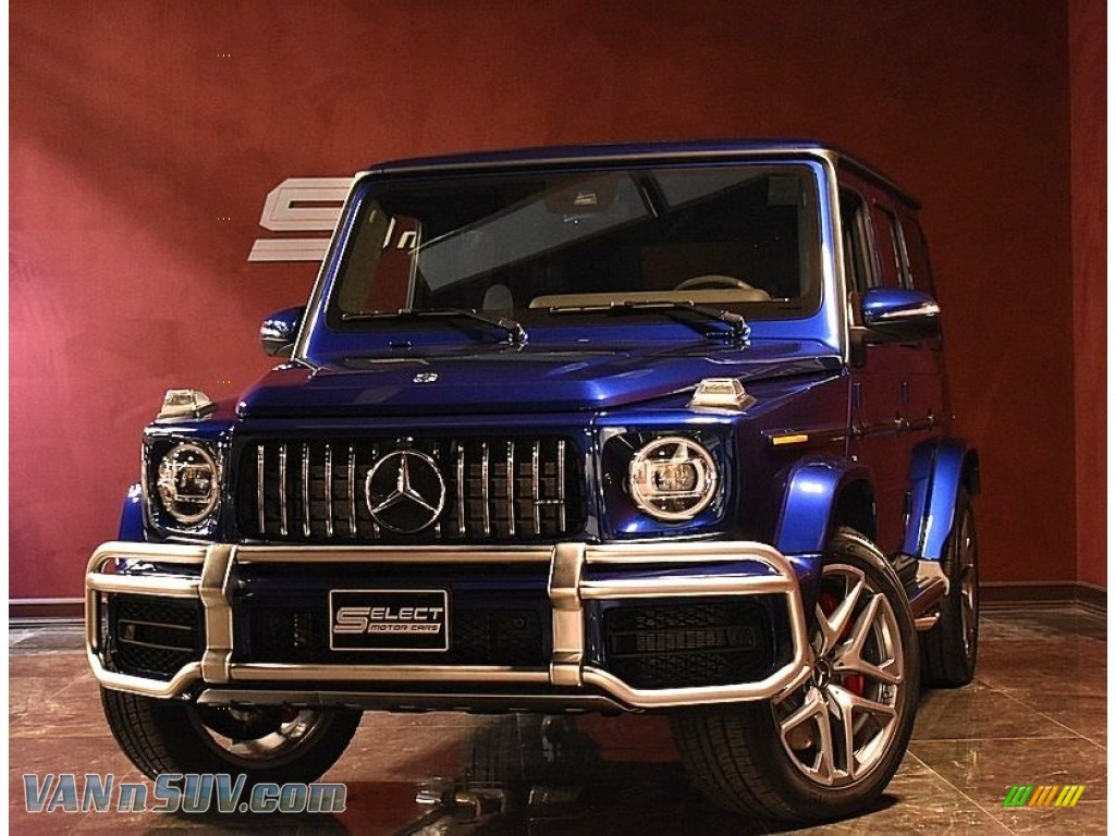 2020 G 63 AMG - Brilliant Blue Metallic / Black photo #1