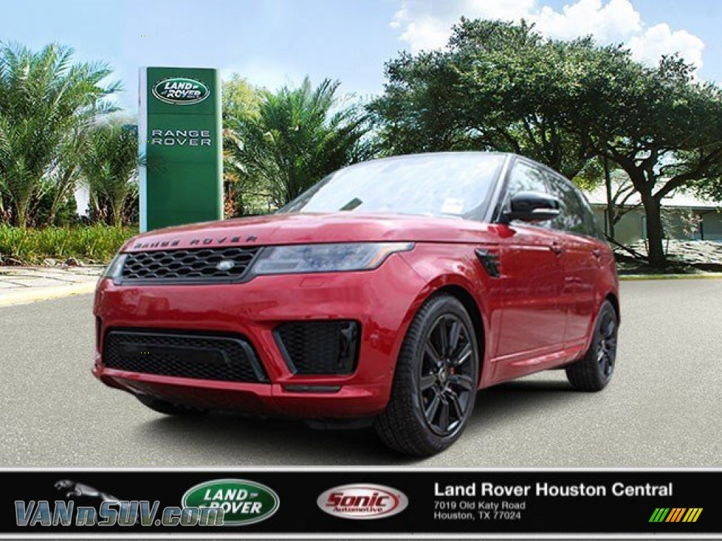 2020 Range Rover Sport HST - Firenze Red Metallic / Ebony/Ebony photo #1