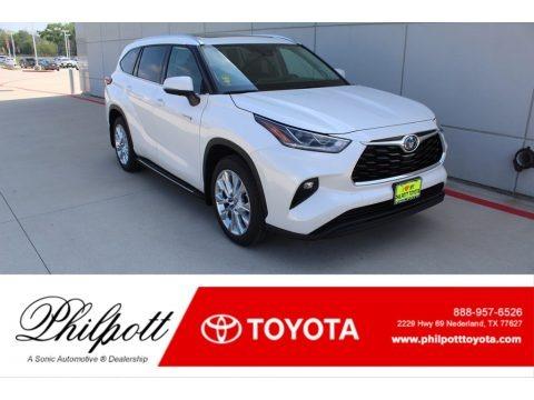 Blizzard White Pearl 2020 Toyota Highlander Hybrid Limited