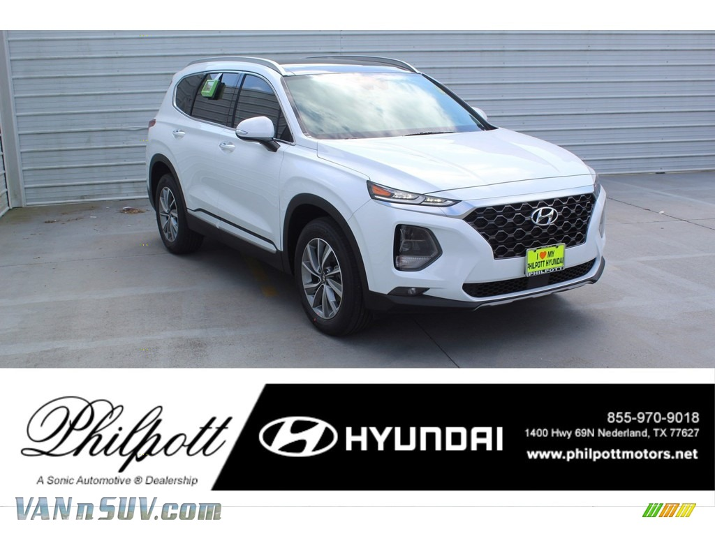 Quartz White / Black Hyundai Santa Fe SEL