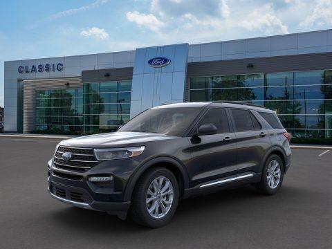 Agate Black Metallic 2020 Ford Explorer XLT
