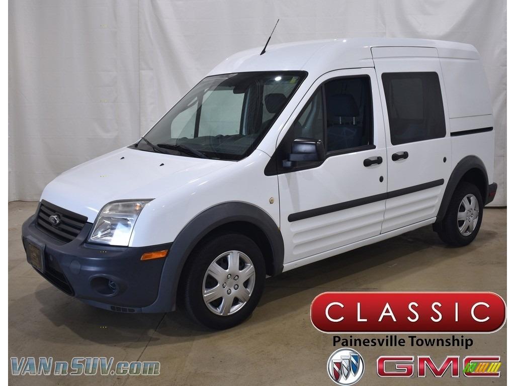 2013 Transit Connect XL Van - Frozen White / Dark Gray photo #1