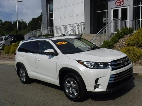 Blizzard White Pearl 2017 Toyota Highlander Limited AWD