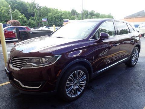 Burgundy Velvet 2017 Lincoln MKX Reserve AWD