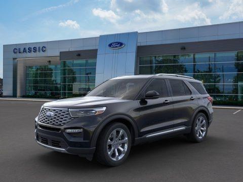 Agate Black Metallic 2020 Ford Explorer Platinum 4WD