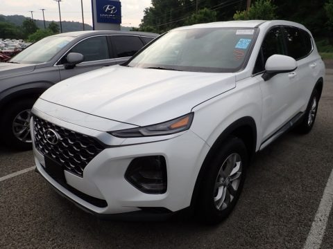 Quartz White 2019 Hyundai Santa Fe SE AWD