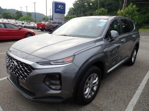 Machine Gray 2019 Hyundai Santa Fe SE AWD