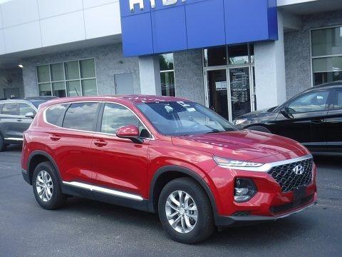 Scarlet Red 2019 Hyundai Santa Fe SE AWD
