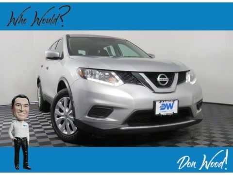 Brilliant Silver 2016 Nissan Rogue S AWD