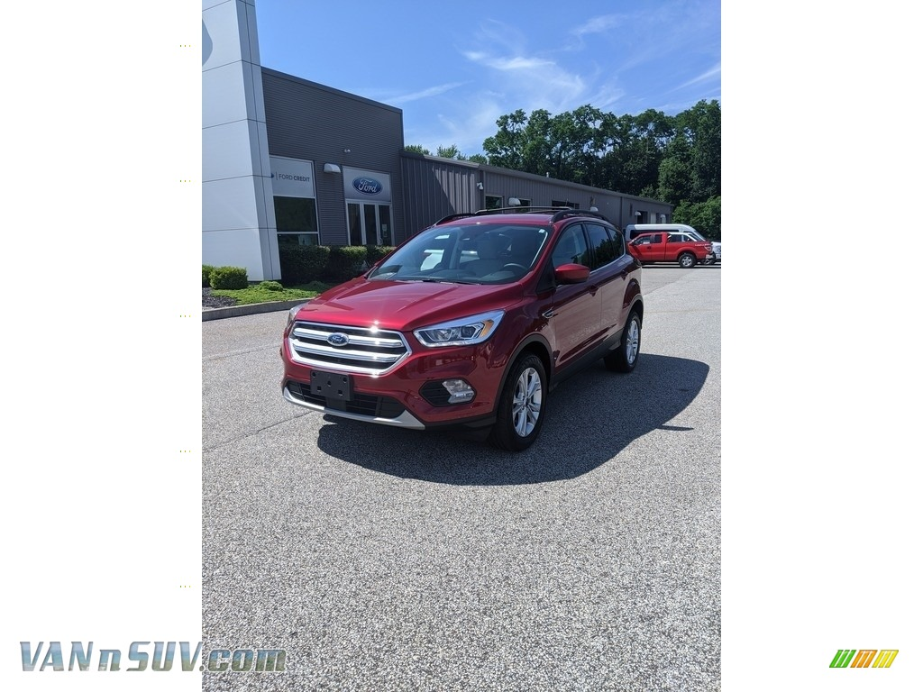 2018 Escape SEL 4WD - Ruby Red / Medium Light Stone photo #1