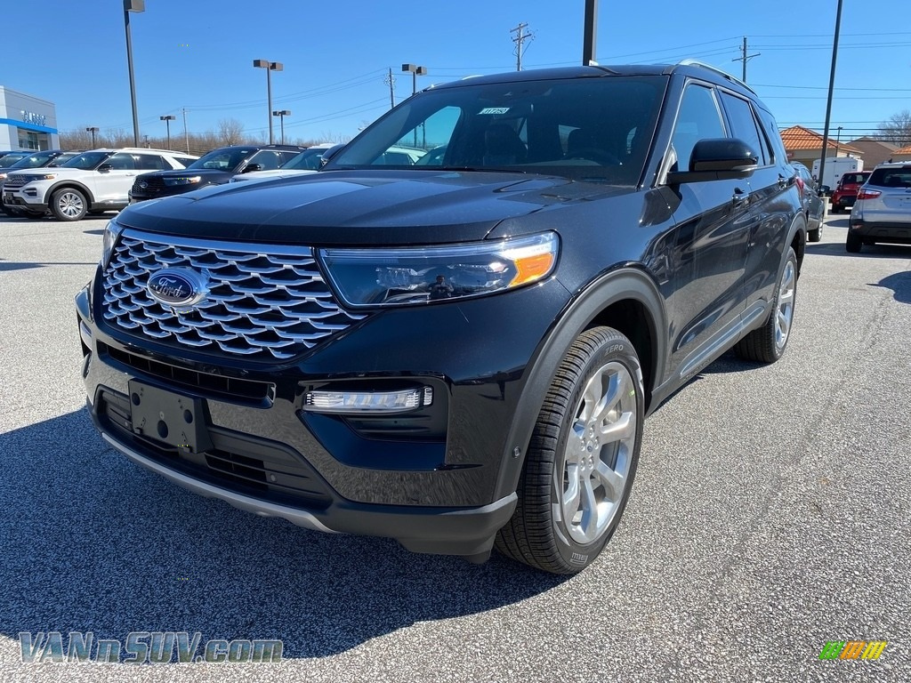 2020 Explorer Platinum 4WD - Agate Black Metallic / Ebony photo #1