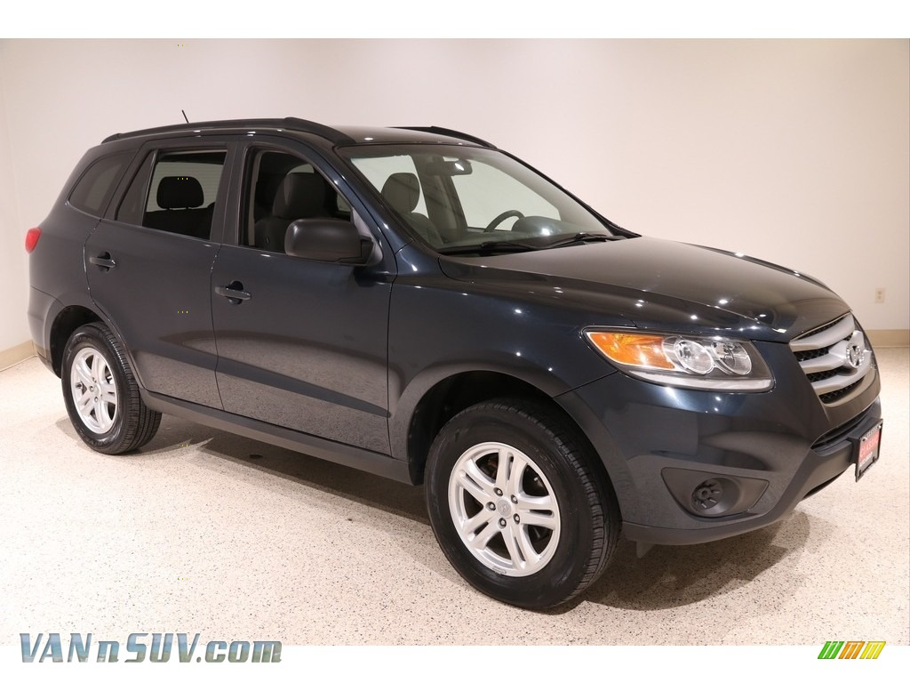 2012 Santa Fe GLS AWD - Pacific Blue Pearl / Gray photo #1