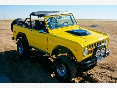 Canary Yellow 1973 Ford Bronco 4x4