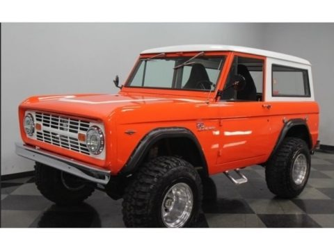 Orange 1966 Ford Bronco Utility
