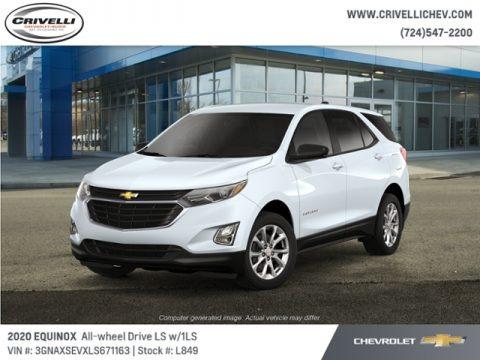 Summit White 2020 Chevrolet Equinox LS AWD