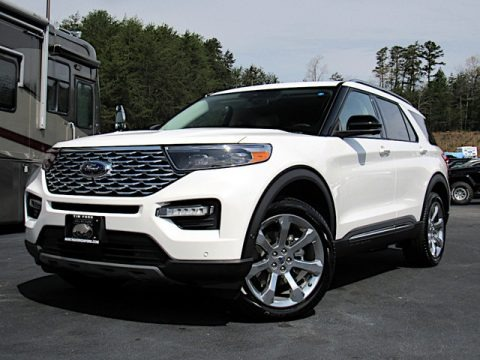 Star White Metallic Tri-Coat 2020 Ford Explorer Platinum 4WD