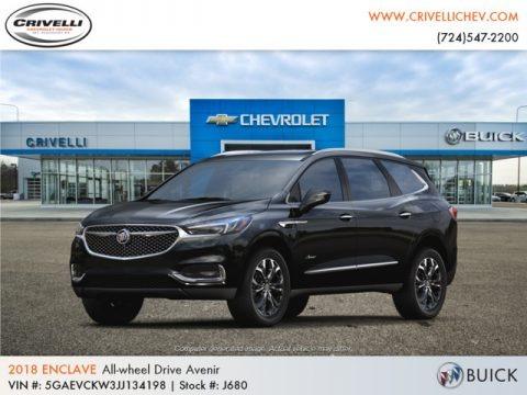 Ebony Twilight Metallic 2018 Buick Enclave Avenir AWD