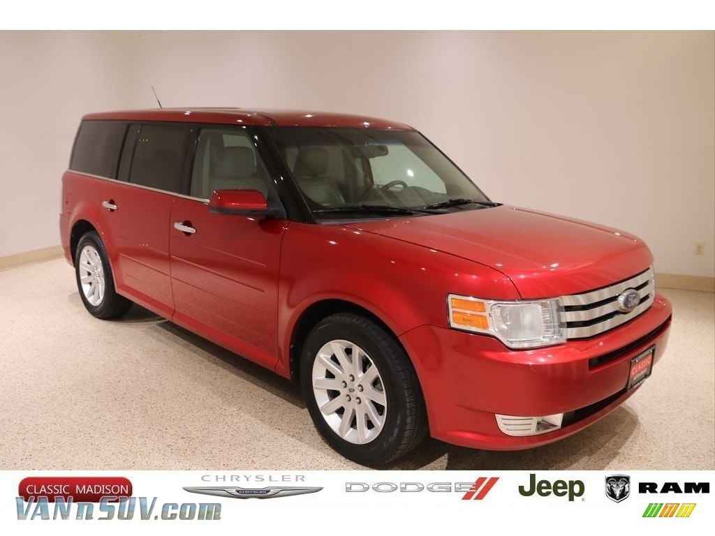 2010 Flex SEL AWD - Red Candy Metallic / Charcoal Black photo #1