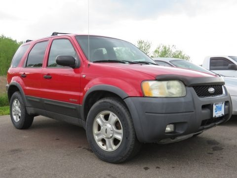 Bright Red 2002 Ford Escape XLT V6 4WD