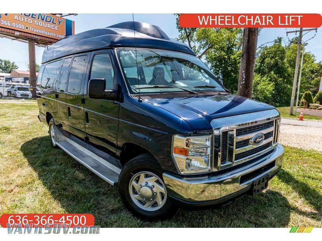 2011 E Series Van E350 XL Extended Passenger - Dark Blue Pearl Metallic / Medium Flint photo #1
