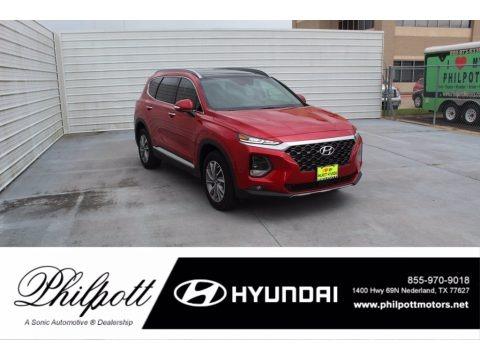 Calypso Red 2020 Hyundai Santa Fe SEL
