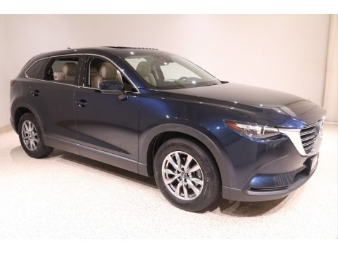 Deep Crystal Blue Mica 2017 Mazda CX-9 Touring AWD