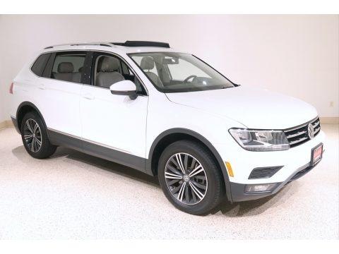 Pure White 2018 Volkswagen Tiguan SEL 4MOTION