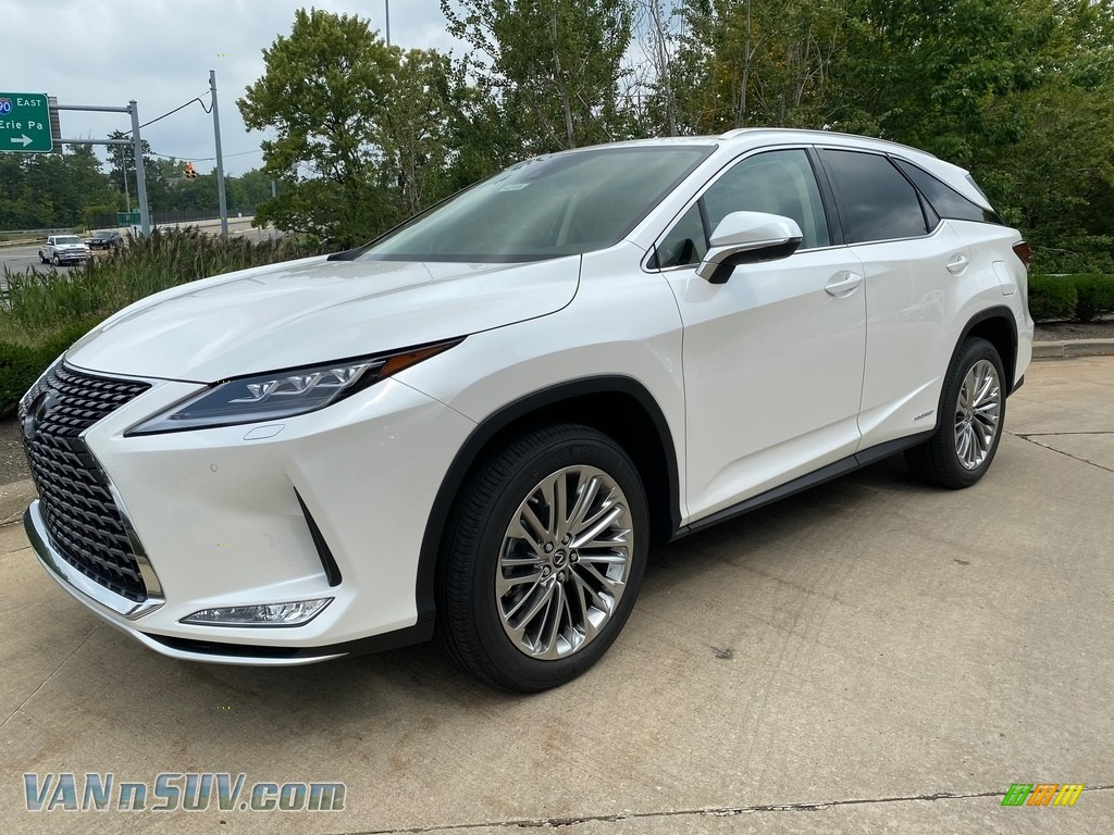 2020 RX 450hL AWD - Eminent White Pearl / Parchment photo #1