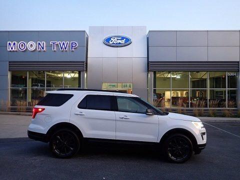 Oxford White 2018 Ford Explorer XLT 4WD