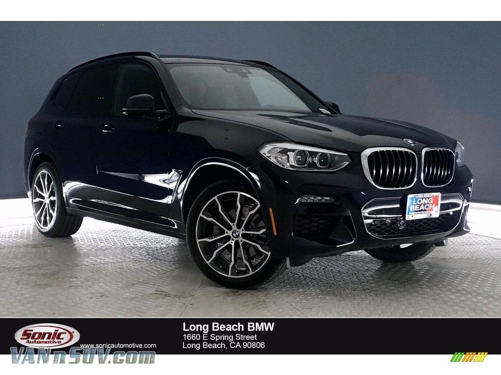 2021 X3 sDrive30i - Carbon Black Metallic / Black photo #1