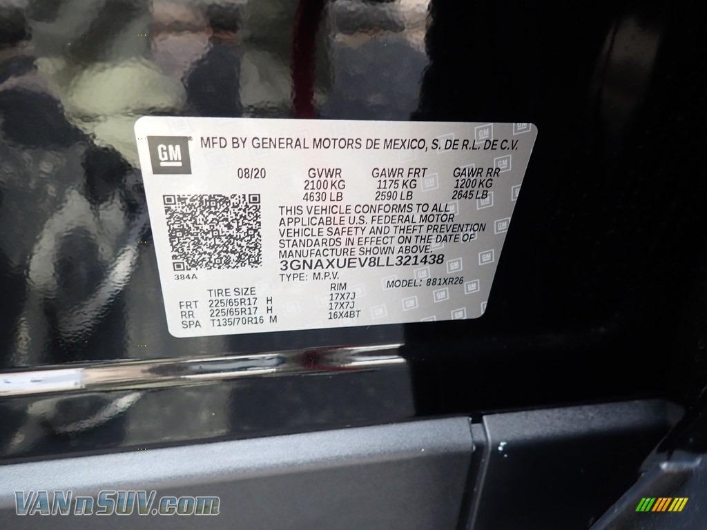 2020 Equinox LT AWD - Mosaic Black Metallic / Jet Black photo #15
