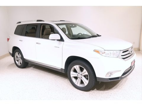 Blizzard White Pearl 2013 Toyota Highlander Limited 4WD