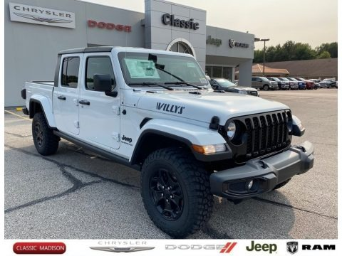 Bright White 2021 Jeep Gladiator Willys 4x4