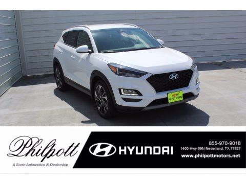 White Cream 2021 Hyundai Tucson Sport